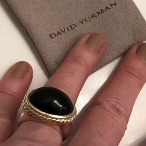 Designer David Yurman SIGNATURE Black Onyx Ring